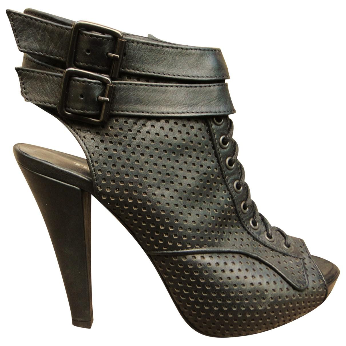 5b72d45e6e The Kooples. Women's Black Leather Ankle Boot. $170 From Vestiaire  Collective