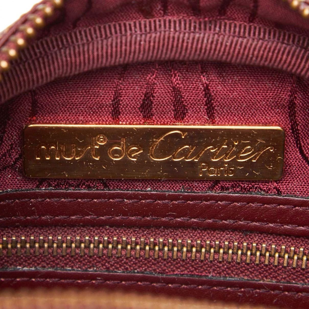 Sacs à main C Cuir Cartier en coloris Rouge kaUb