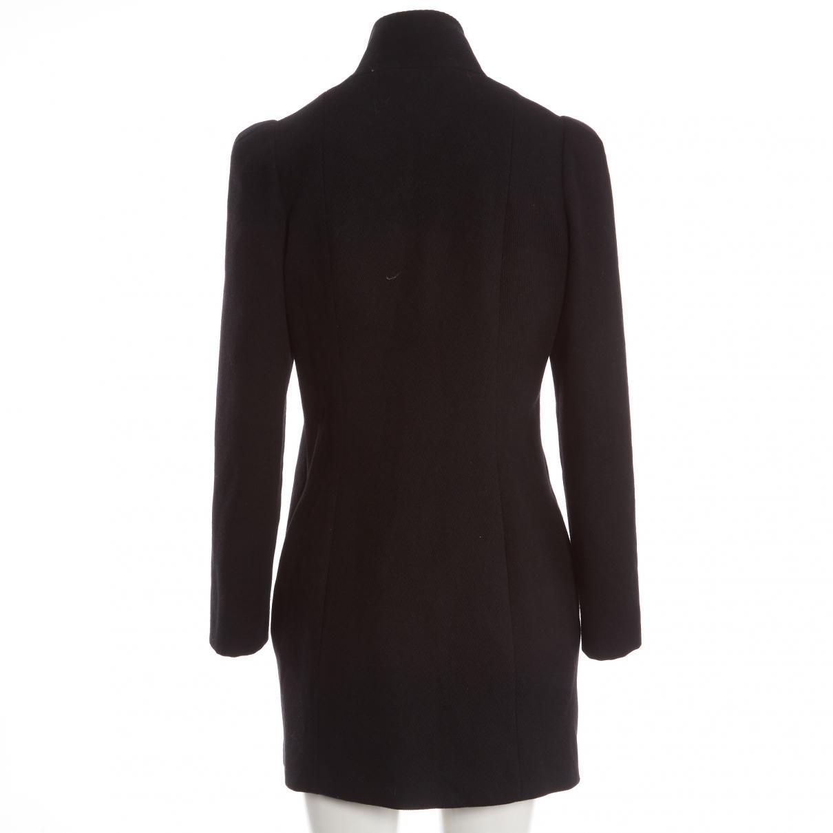 Manteau en laine Laines Balmain en coloris Noir 8FELL