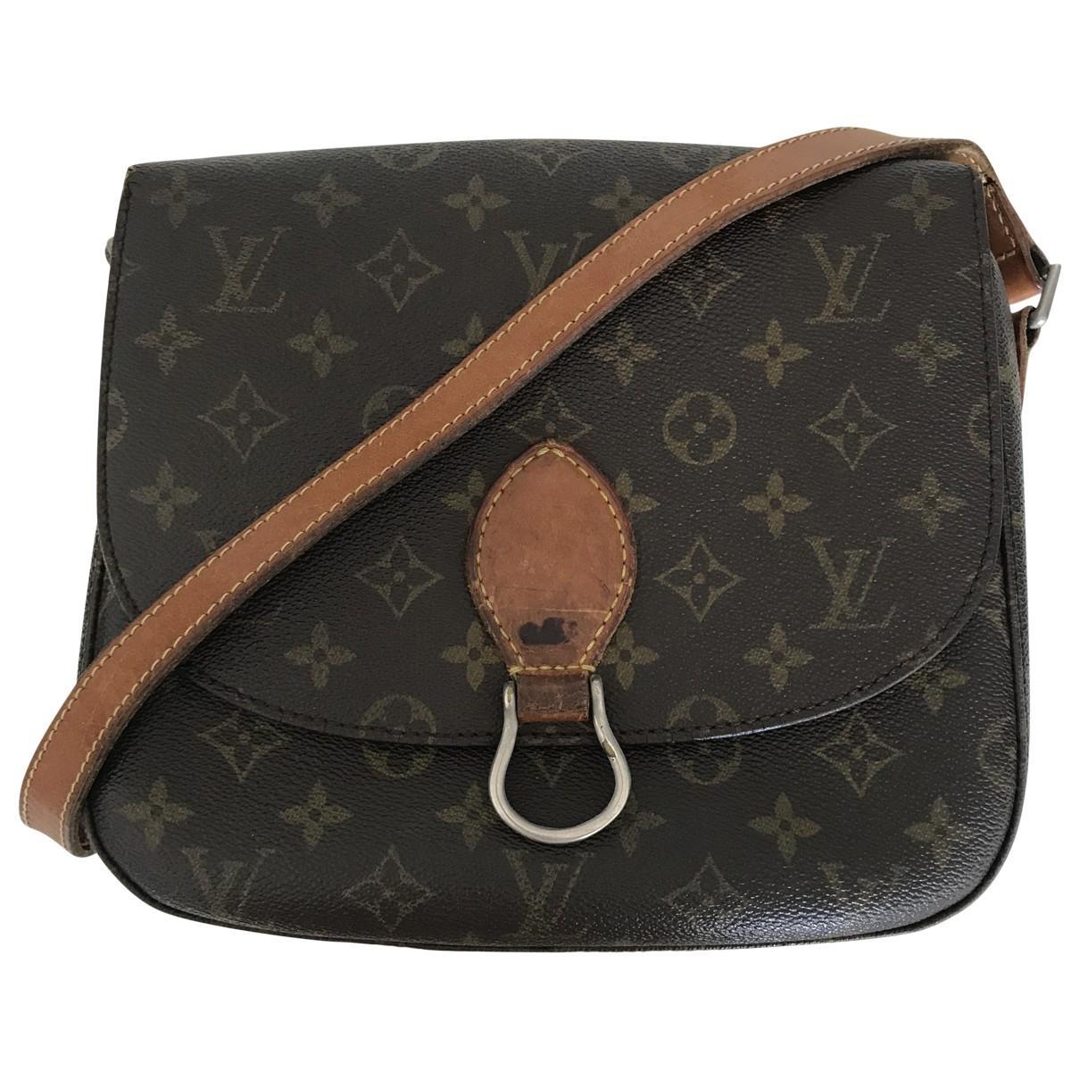 516f6cc42532 Lyst - Louis Vuitton Saint Cloud Cloth Crossbody Bag in Brown