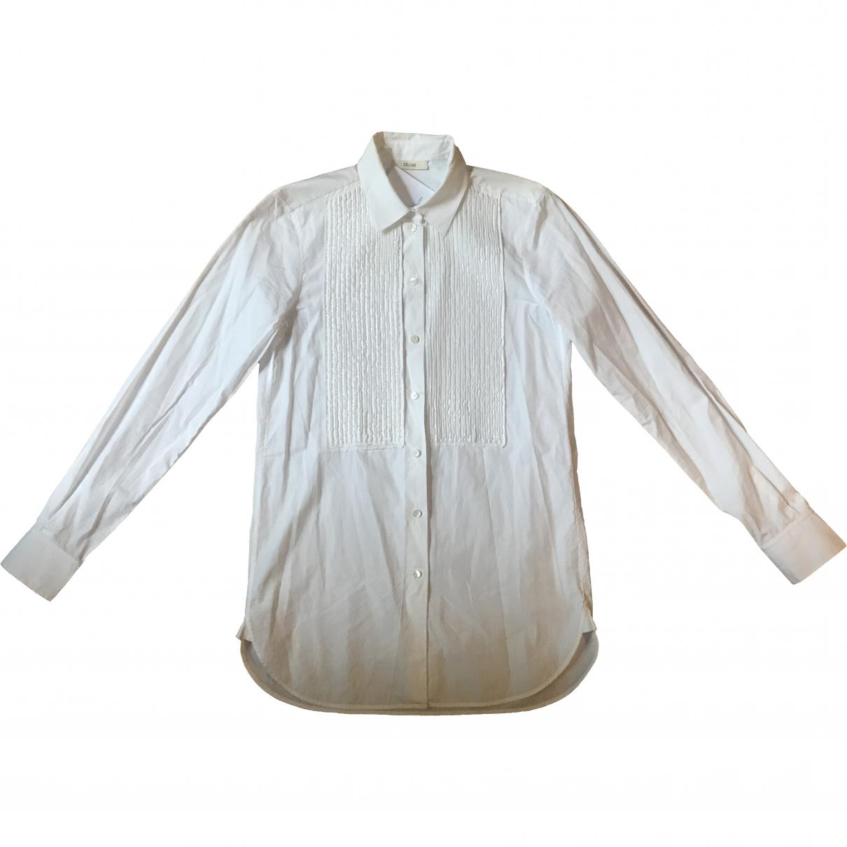 00bb7eb0af5 Lyst - Céline Pre-owned Shirt in White for Men