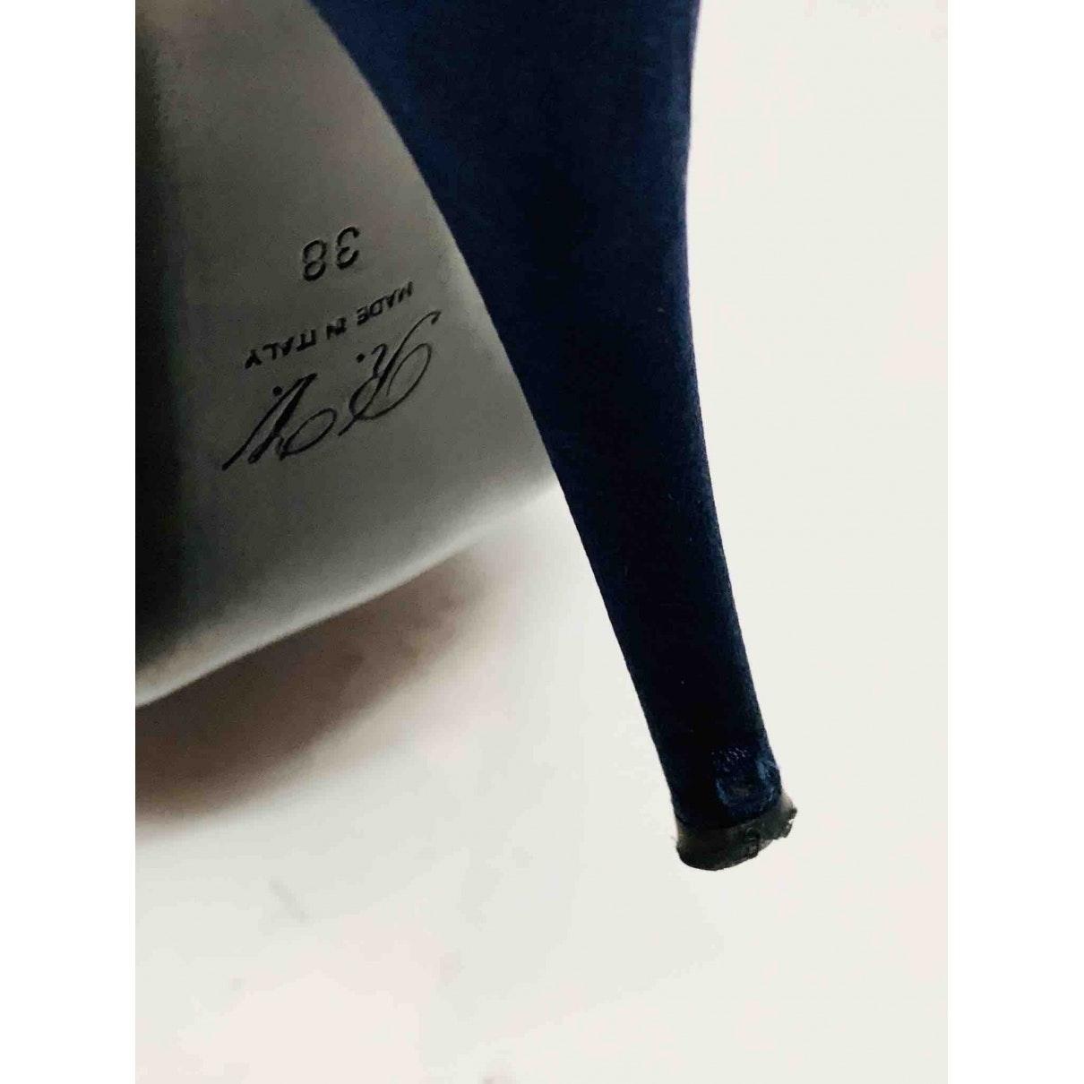 Tacones en lona azul N Roger Vivier de color Azul