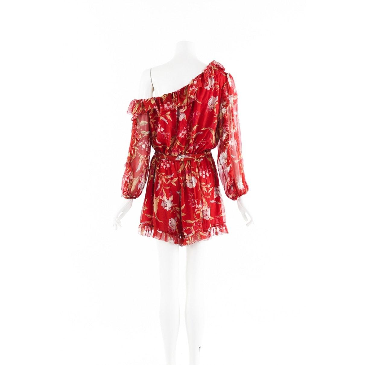 Combinaisons en Soie Rouge Soie Zimmermann en coloris Rouge