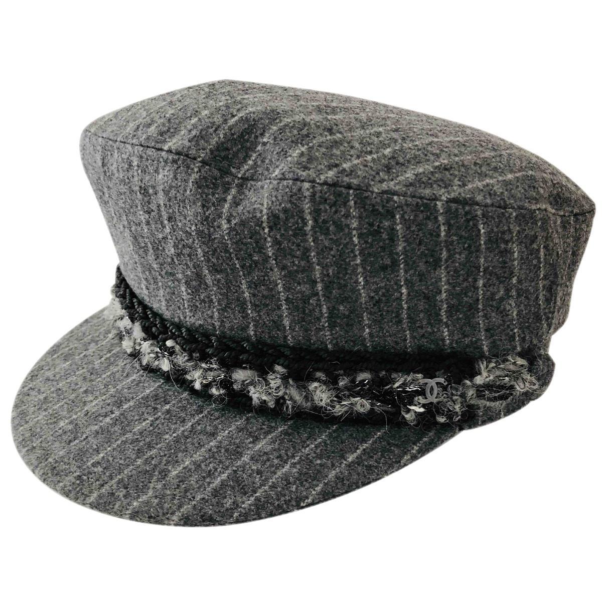 Lyst - Chanel Wool Hat in Gray b88971a0bf9