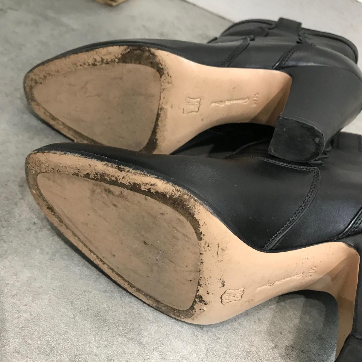 Boots en Cuir Noir Cuir Gianvito Rossi en coloris Noir