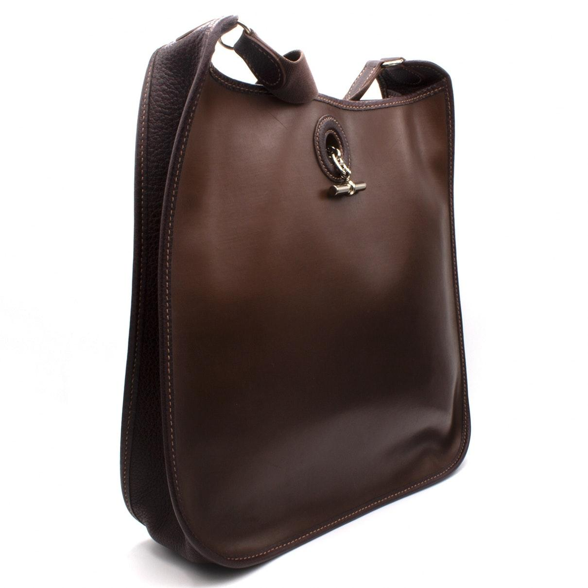 Sac à main Vespa en Cuir Marron Hermès en coloris Marron tKz9