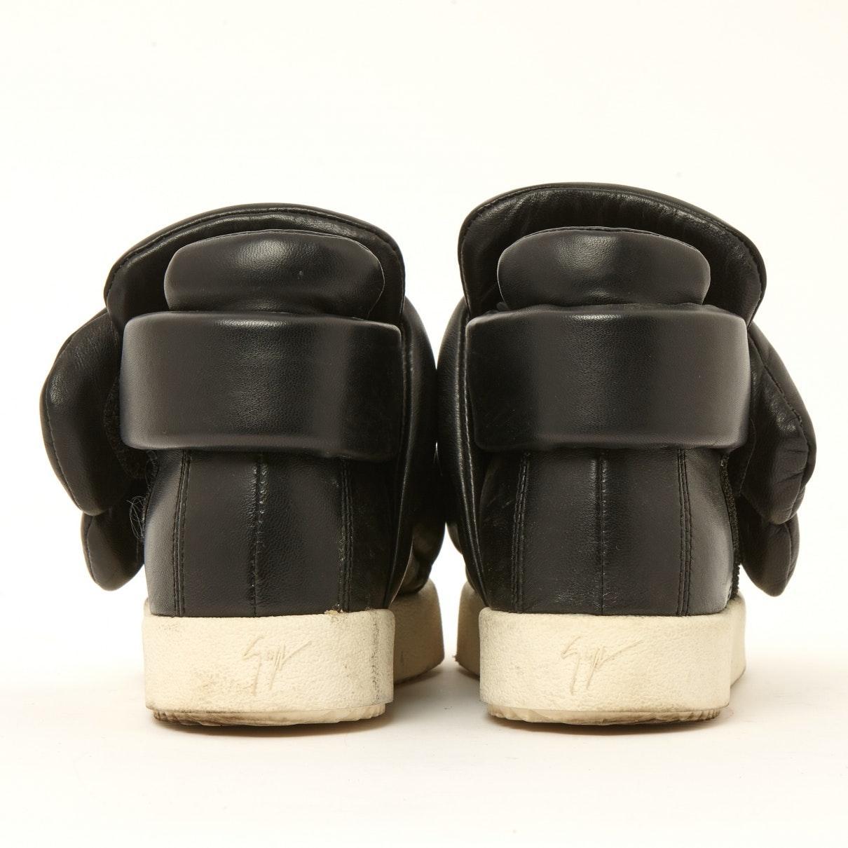 Deportivas en cuero negro N Giuseppe Zanotti de Cuero de color Negro