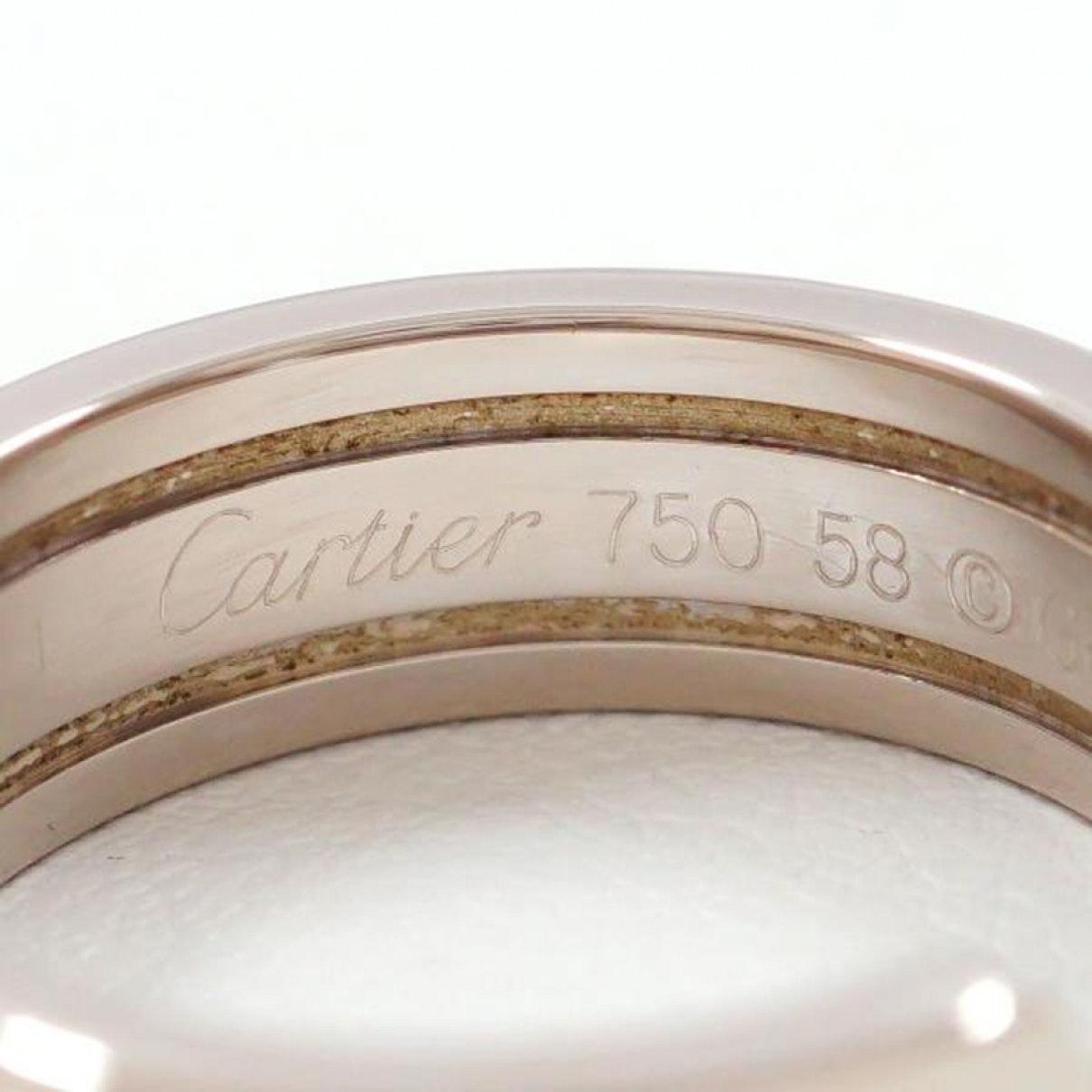Bagues C en Or blanc Argenté Cartier 9TW0
