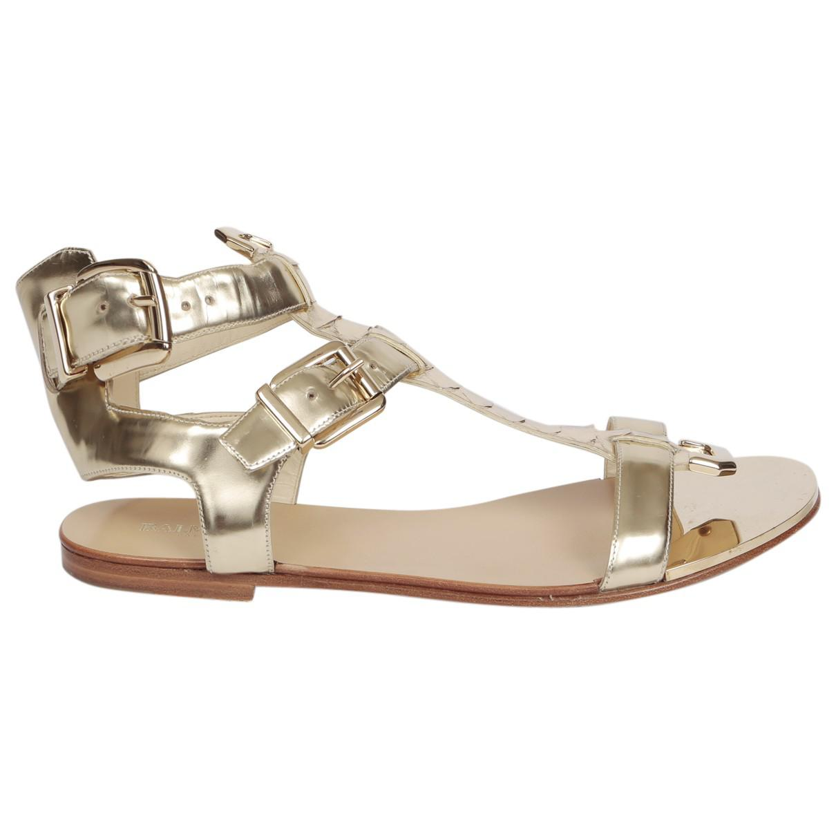 Pre-owned - Cloth sandals Balmain 4sgUS