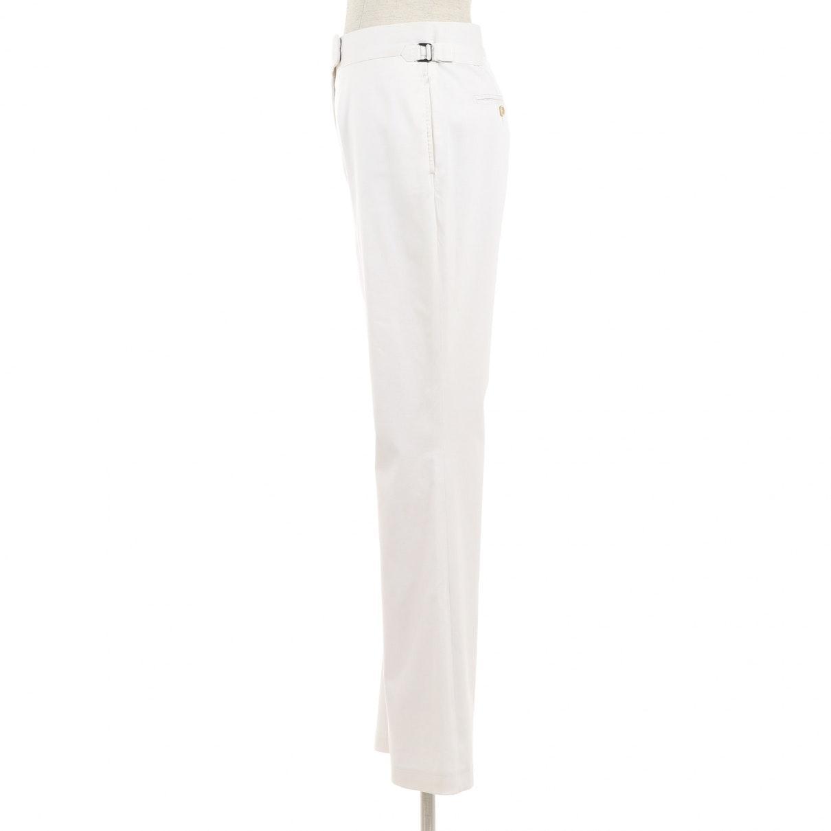 Pantalones en algodón blanco Tom Ford de Algodón de color Blanco