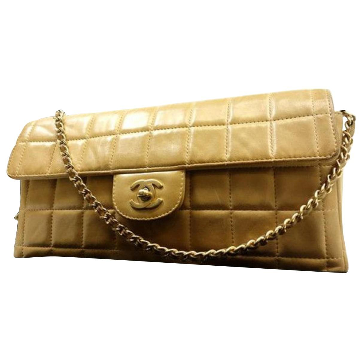dc8131d81407 Lyst - Chanel Pre-owned East West Chocolate Bar Patent Leather ...