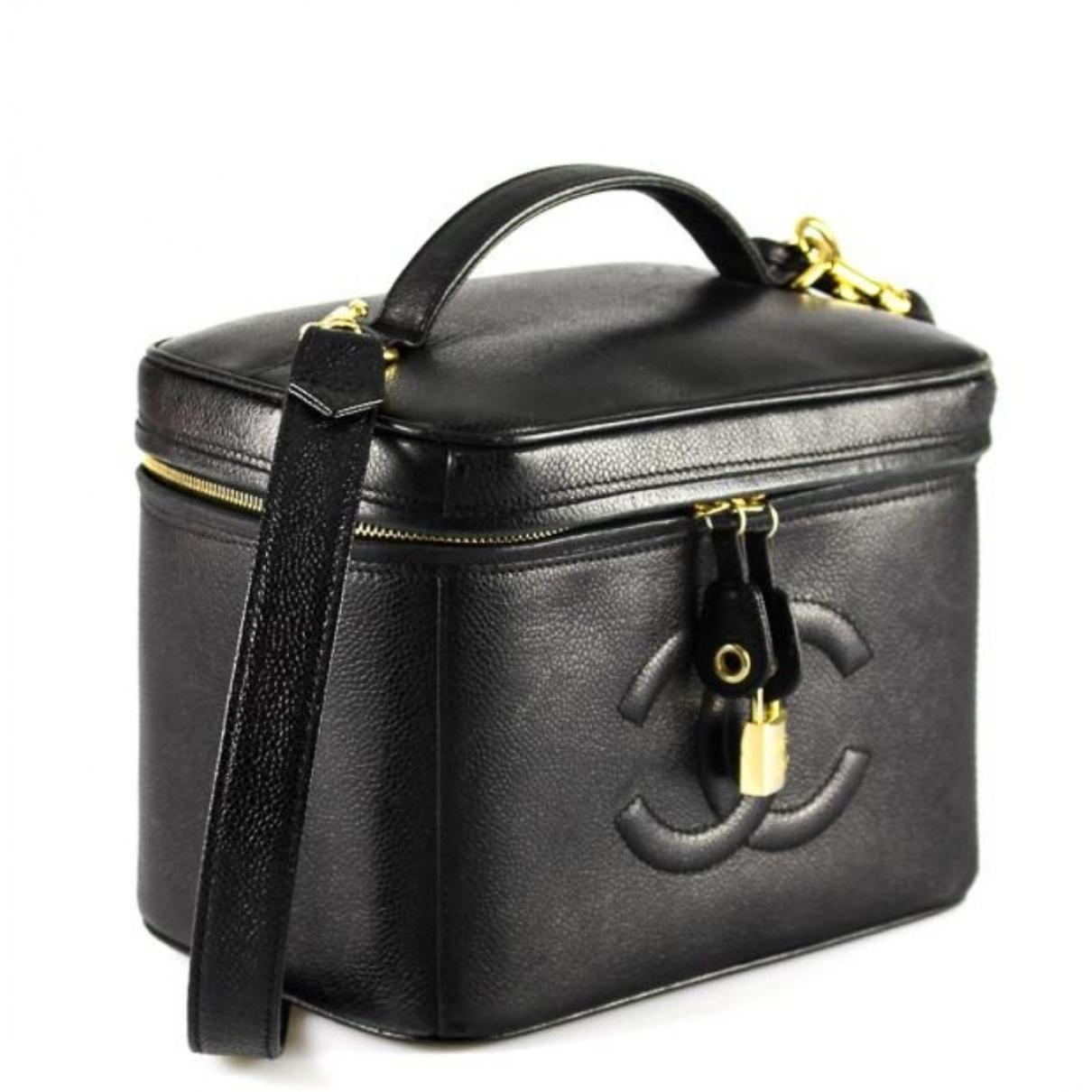 dc985824acdd Chanel. Women s Black Leather Vanity Case. £1