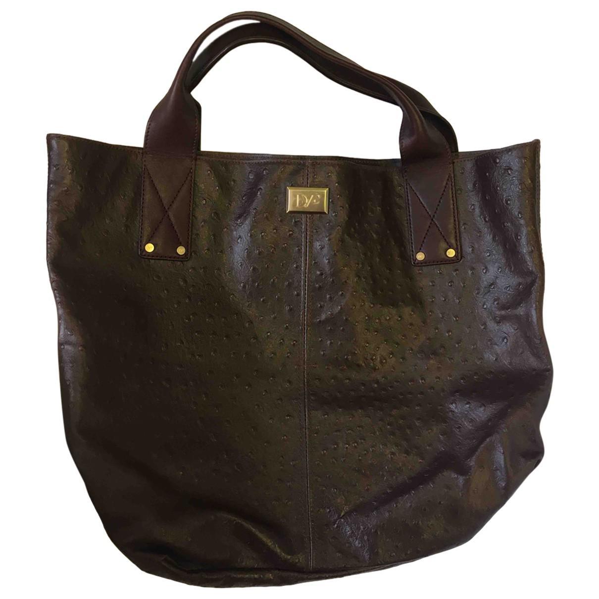 Pre-owned - Leather handbag Diane Von Fürstenberg Supply qOpeWz