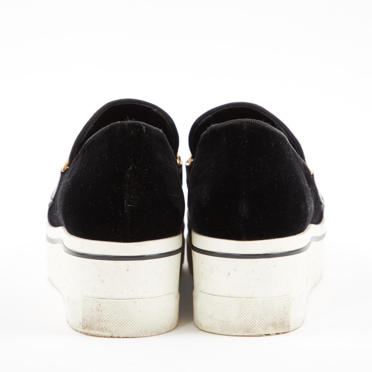 Mocasines en terciopelo negro Stella McCartney de Terciopelo de color Negro