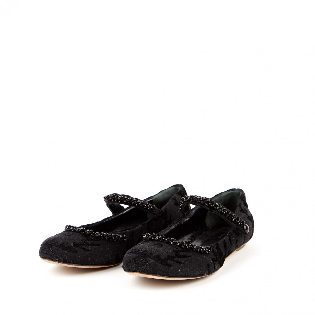 Mocasines de Lona Simone Rocha de color Negro