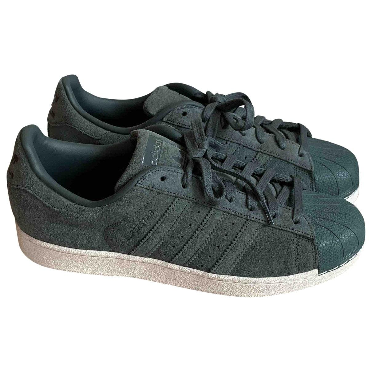 adidas superstar green suede