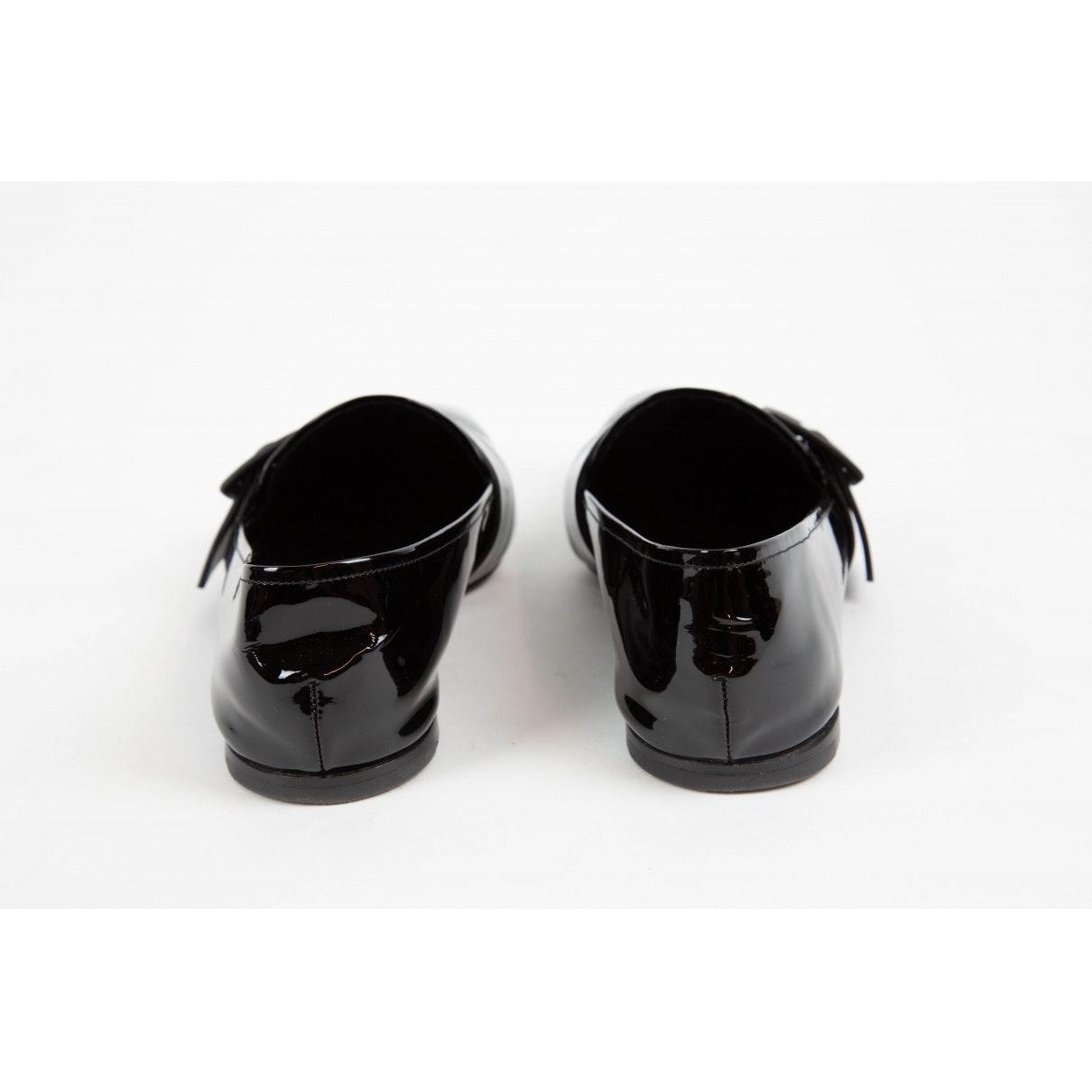 Mocasines en charol negro Jil Sander de Cuero de color Negro
