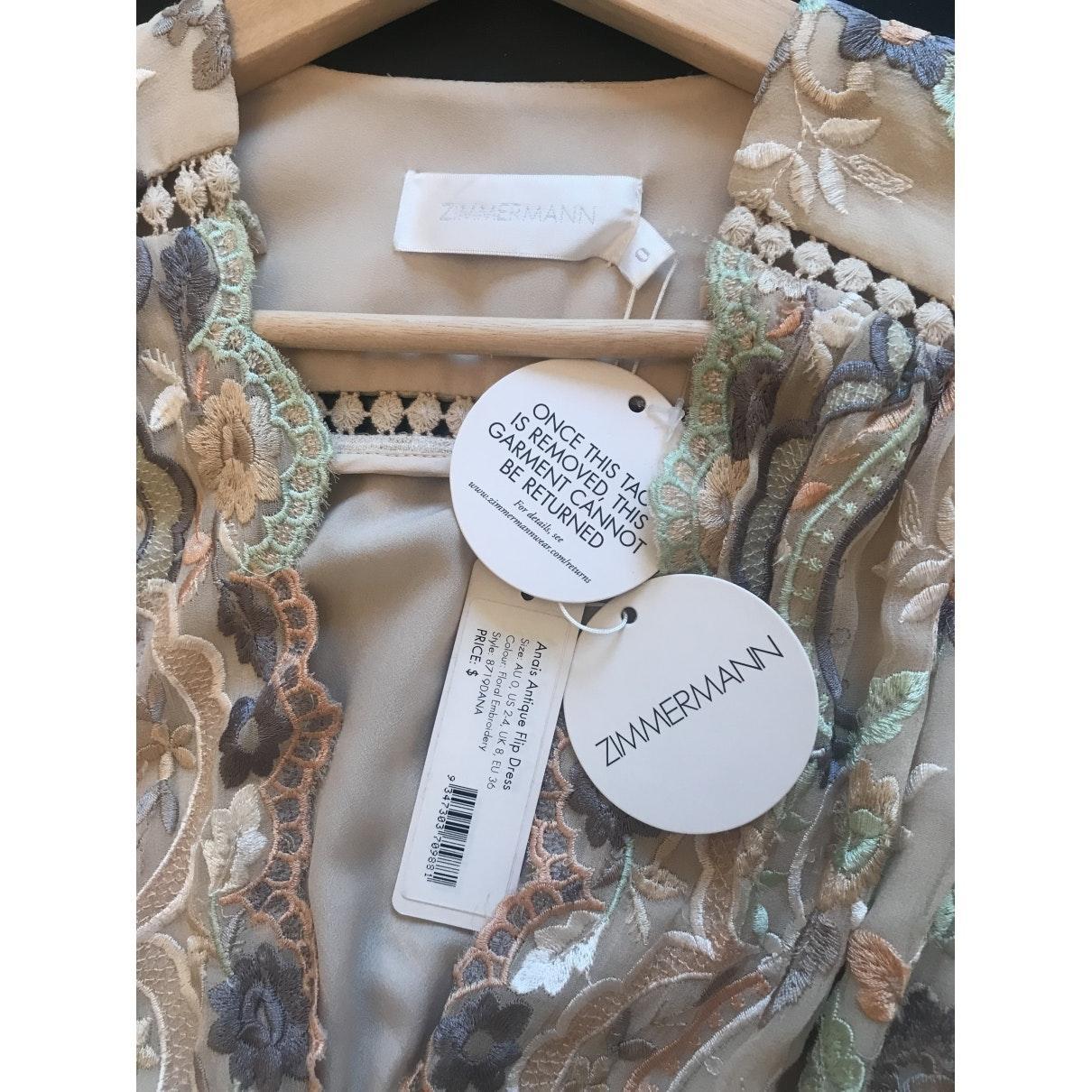 Mini vestido Zimmermann de Algodón