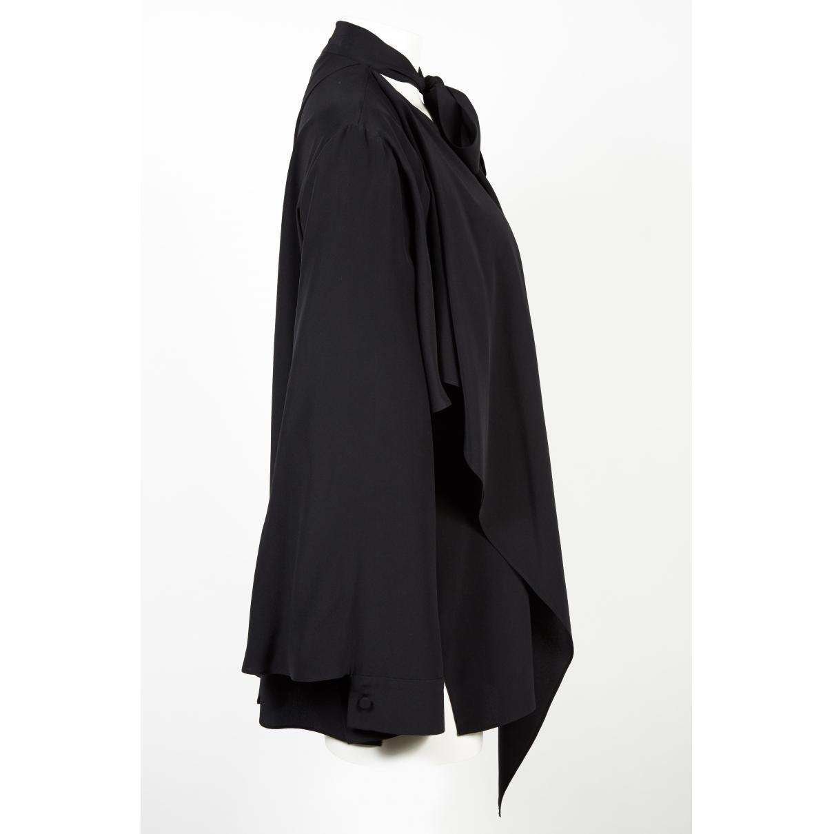 Chemise en soie Soie Fendi en coloris Noir