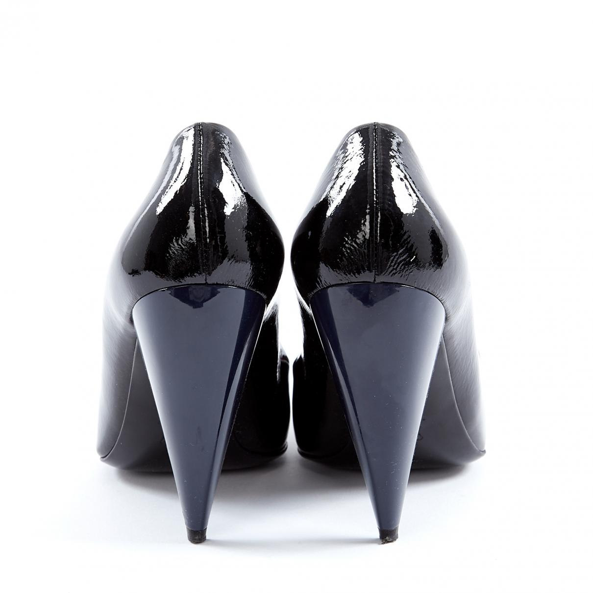 Tacones de Charol Lanvin de Cuero de color Negro