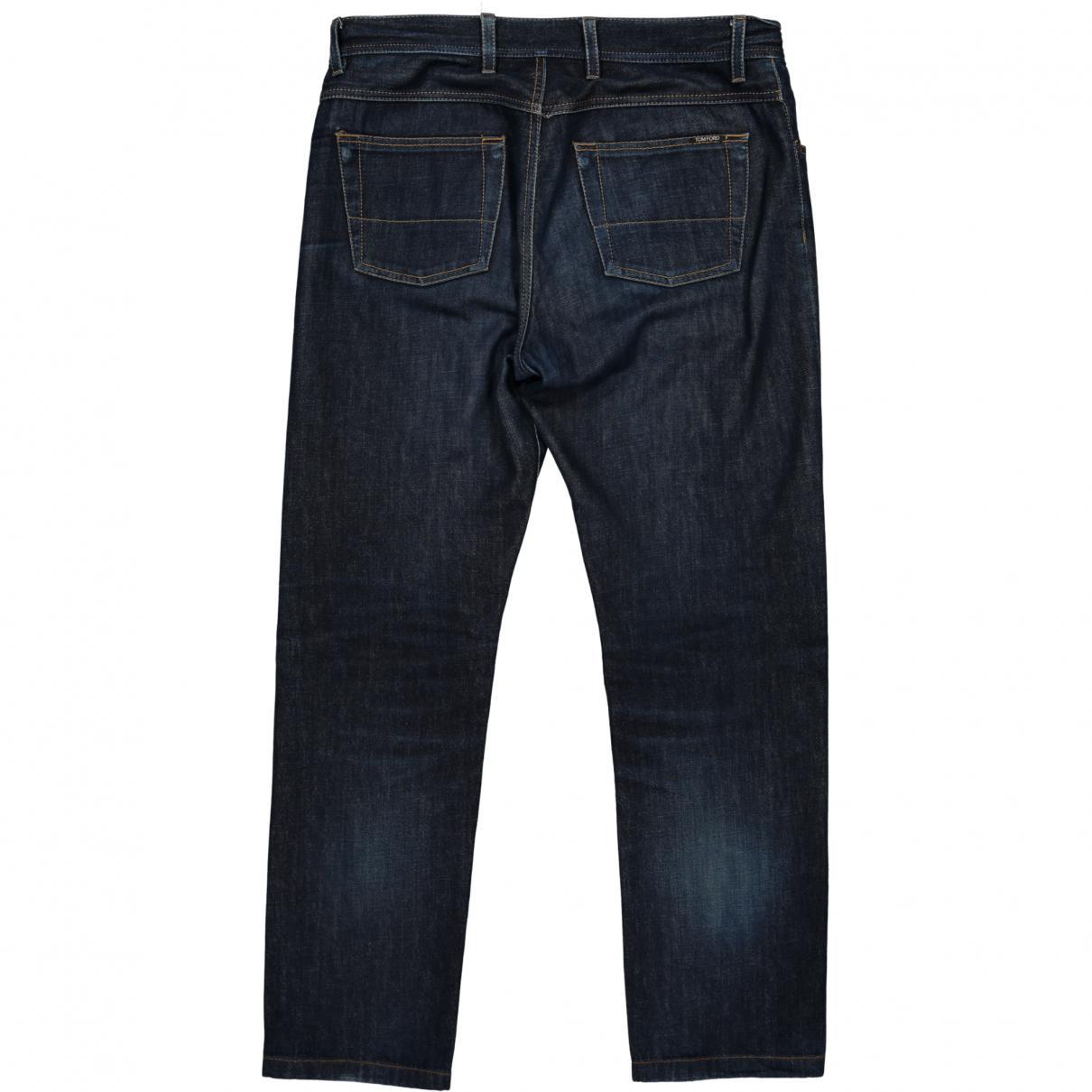 Tom Ford Denim Blue Cotton Jeans for Men