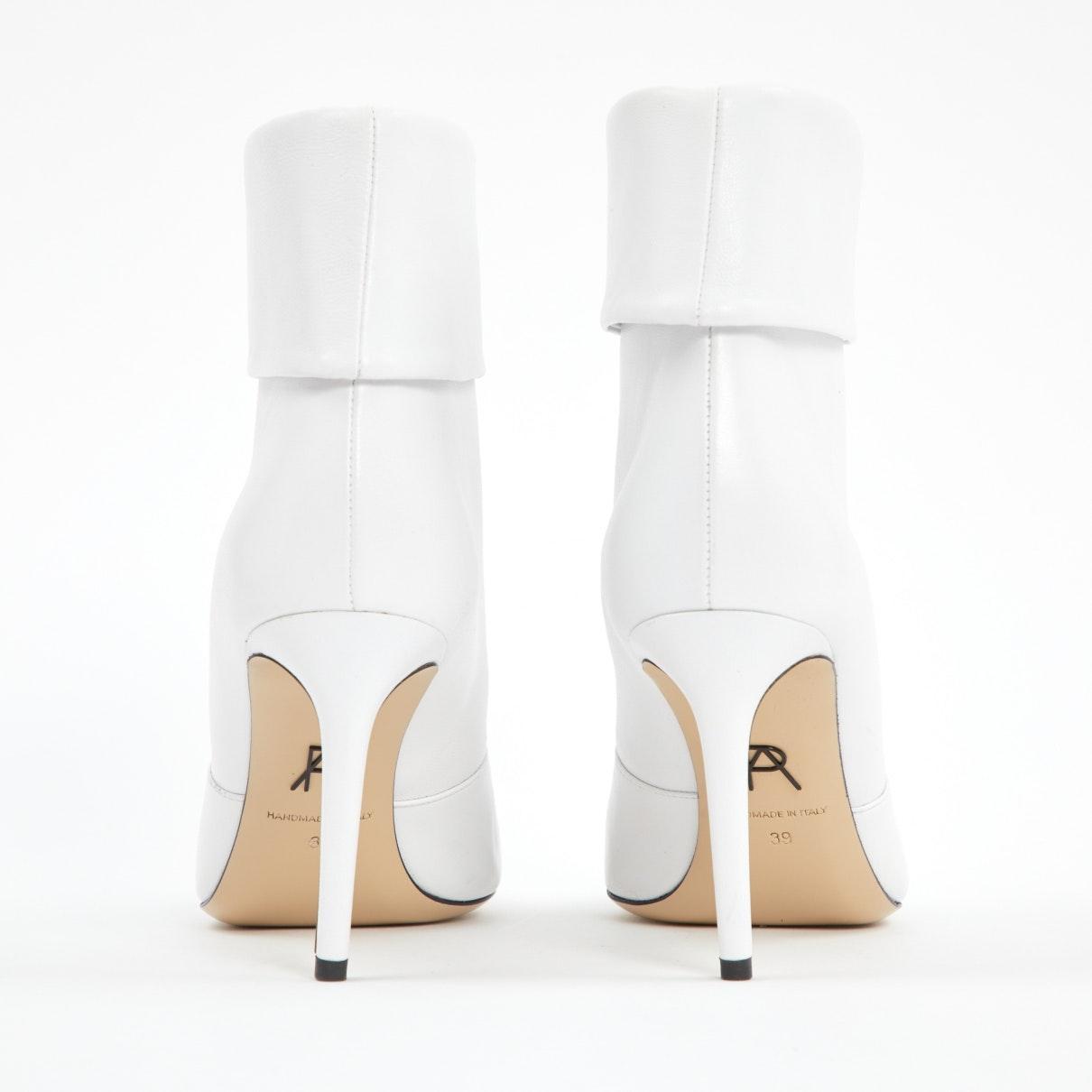 Botines en cuero blanco Paul Andrew de Cuero de color Blanco