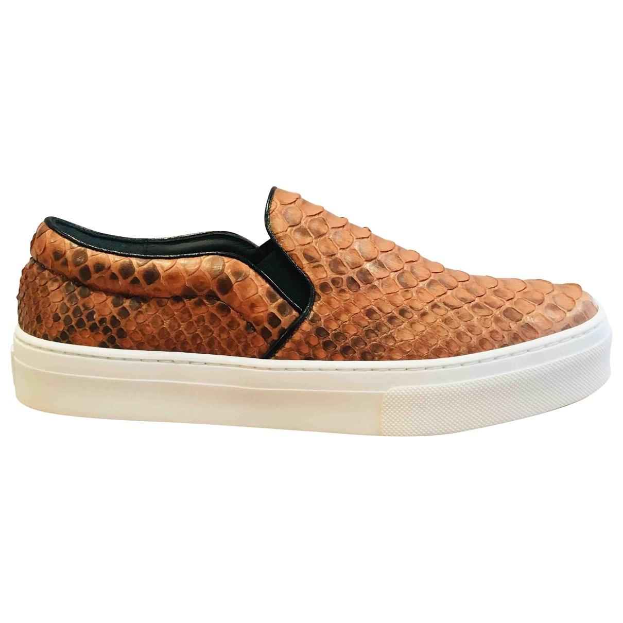 Céline. Women s Pre-owned Camel Python Trainers.  623 From Vestiaire  Collective b72255d32