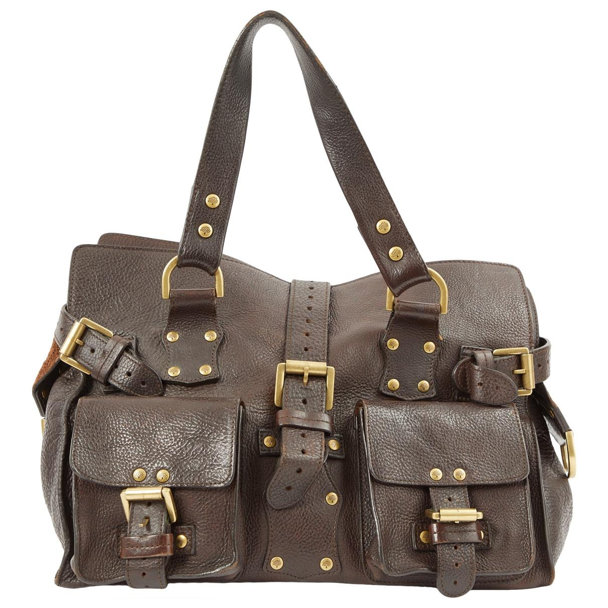 09e992ae07 Lyst - Mulberry Roxanne Brown Leather Handbag in Brown