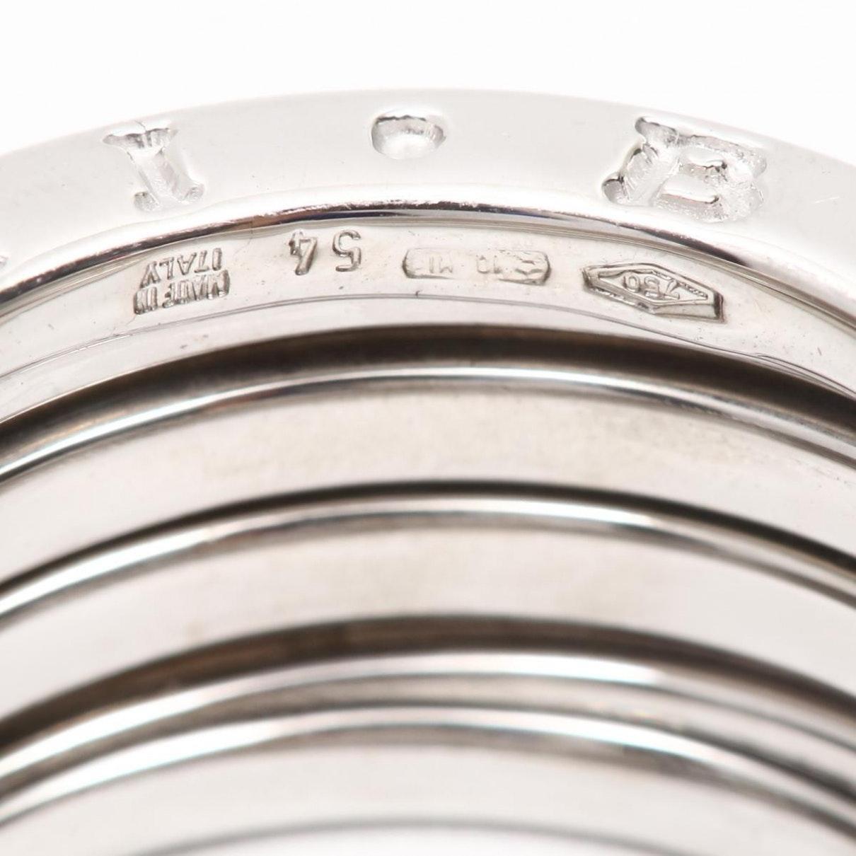 Anello in oro bianco argentato B.Zero1 di BVLGARI