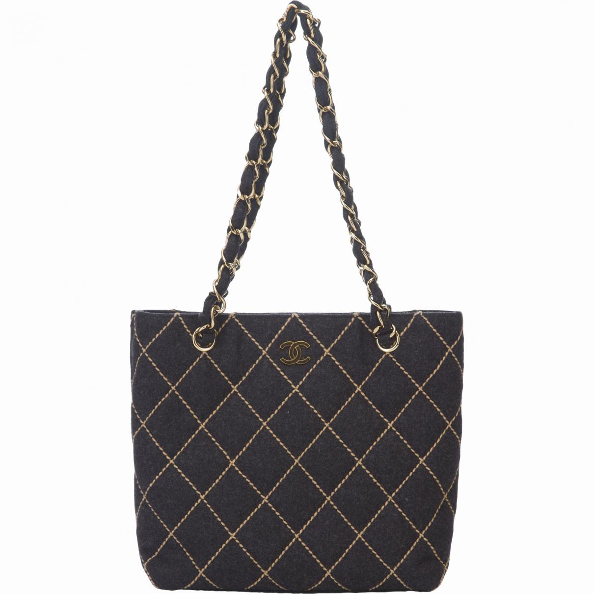 bba78320f86d Chanel Pre-owned Vintage Grey Wool Handbags in Gray - Lyst