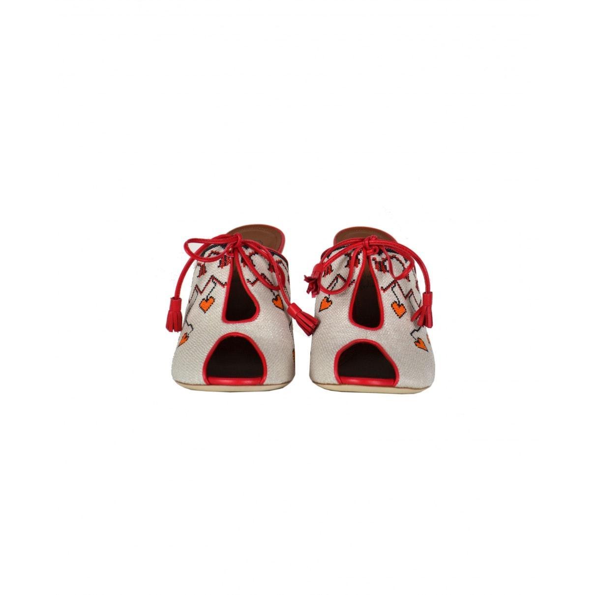 Zuecos de Cuero Malone Souliers de Cuero de color Rojo