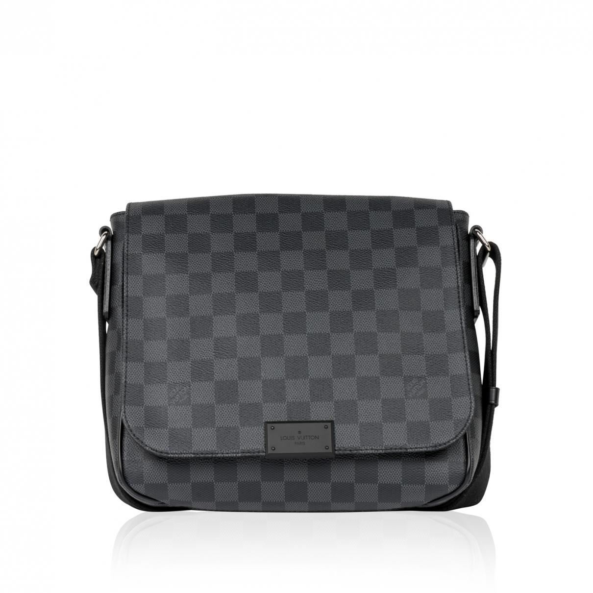 3bc189dfcdfd Louis Vuitton - Black Pre-owned Other Cloth Bags for Men - Lyst. View  fullscreen