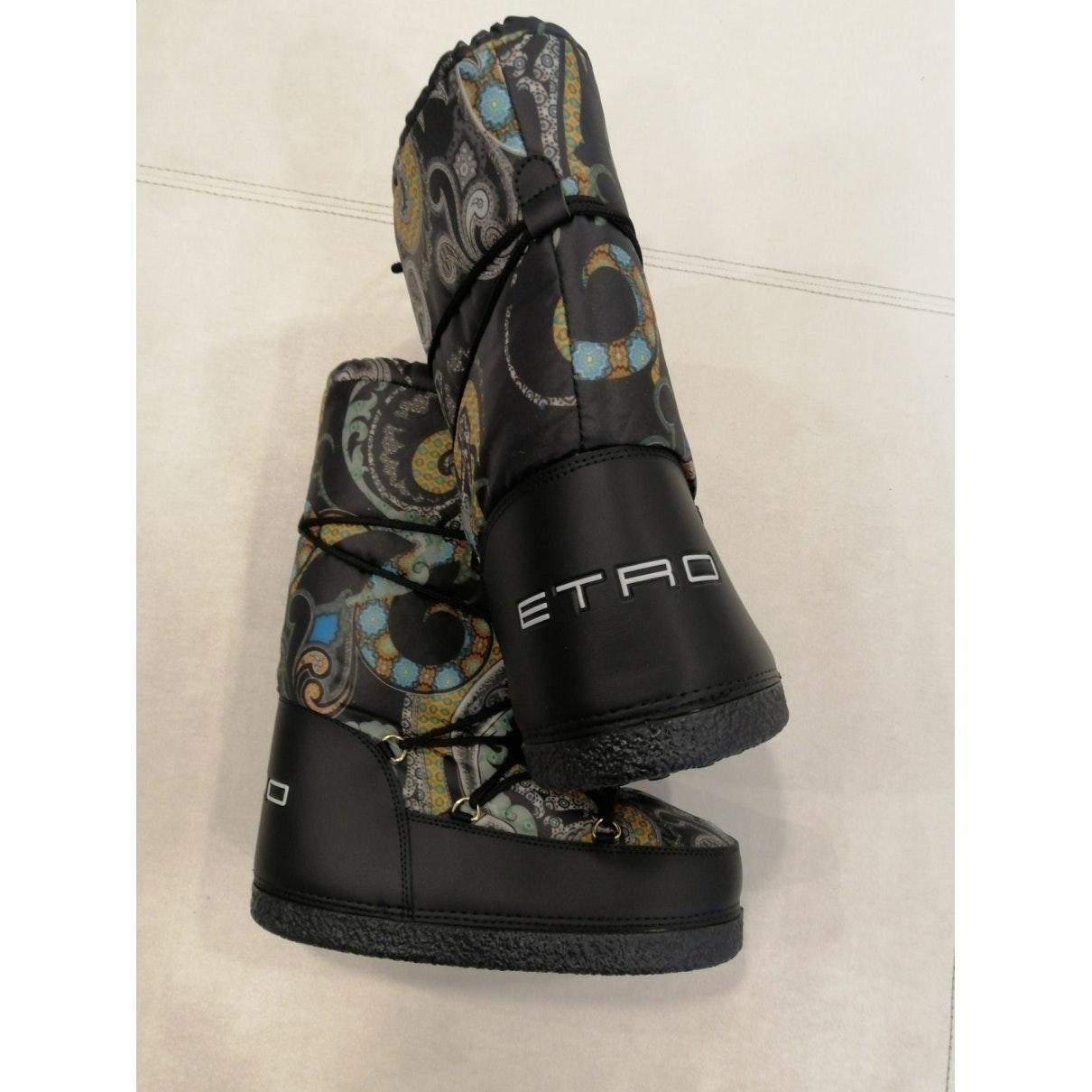 Botas en lona multicolor Etro de color Negro