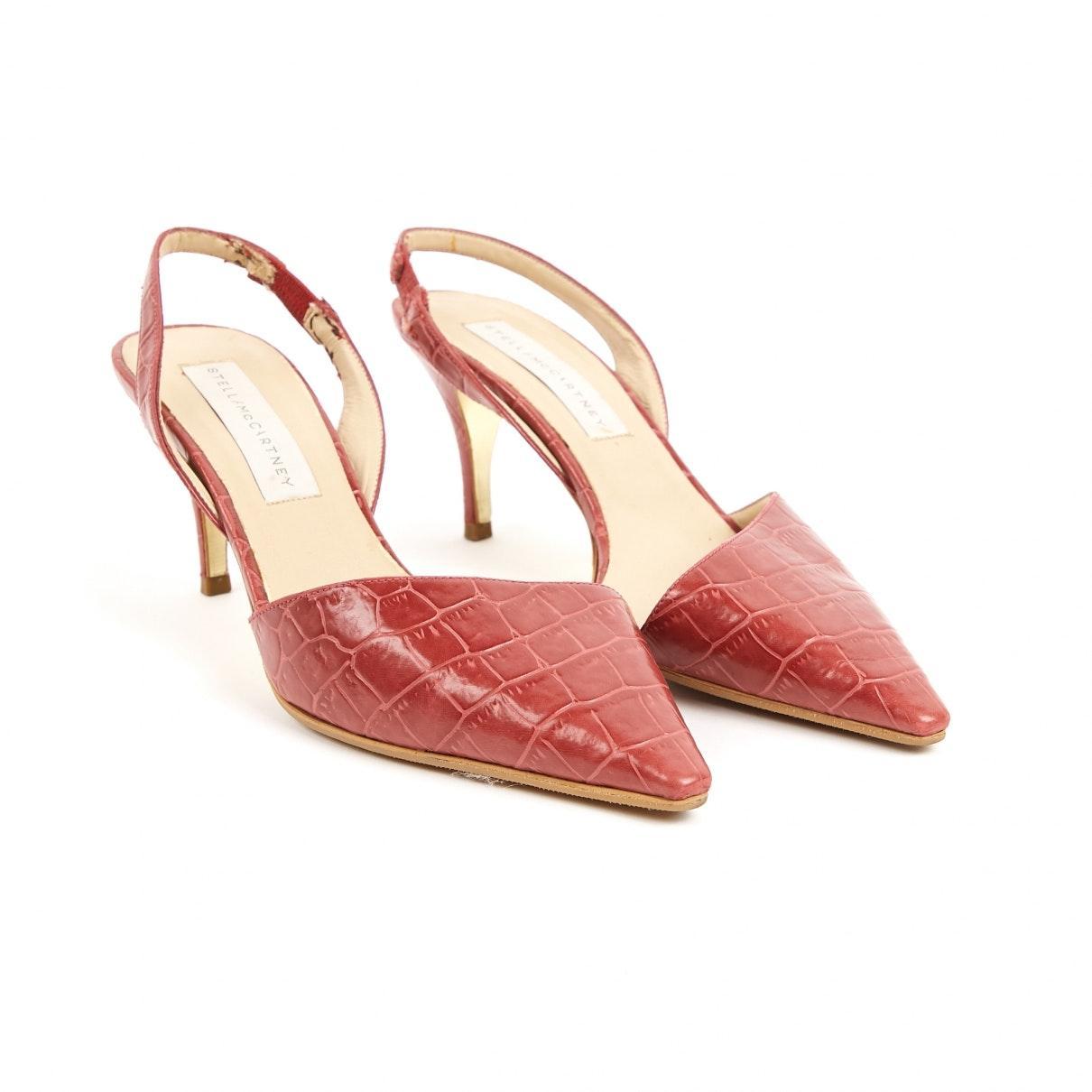 Tacones en cocodrilo rosa Stella McCartney de color Rosa