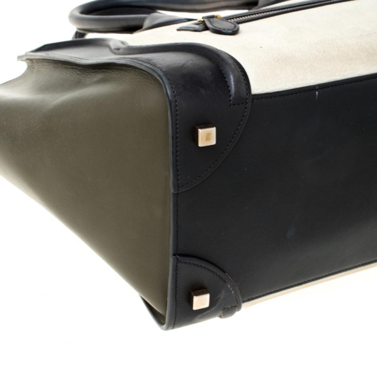 Celine Luggage Leder Handtaschen in Schwarz LWiPB