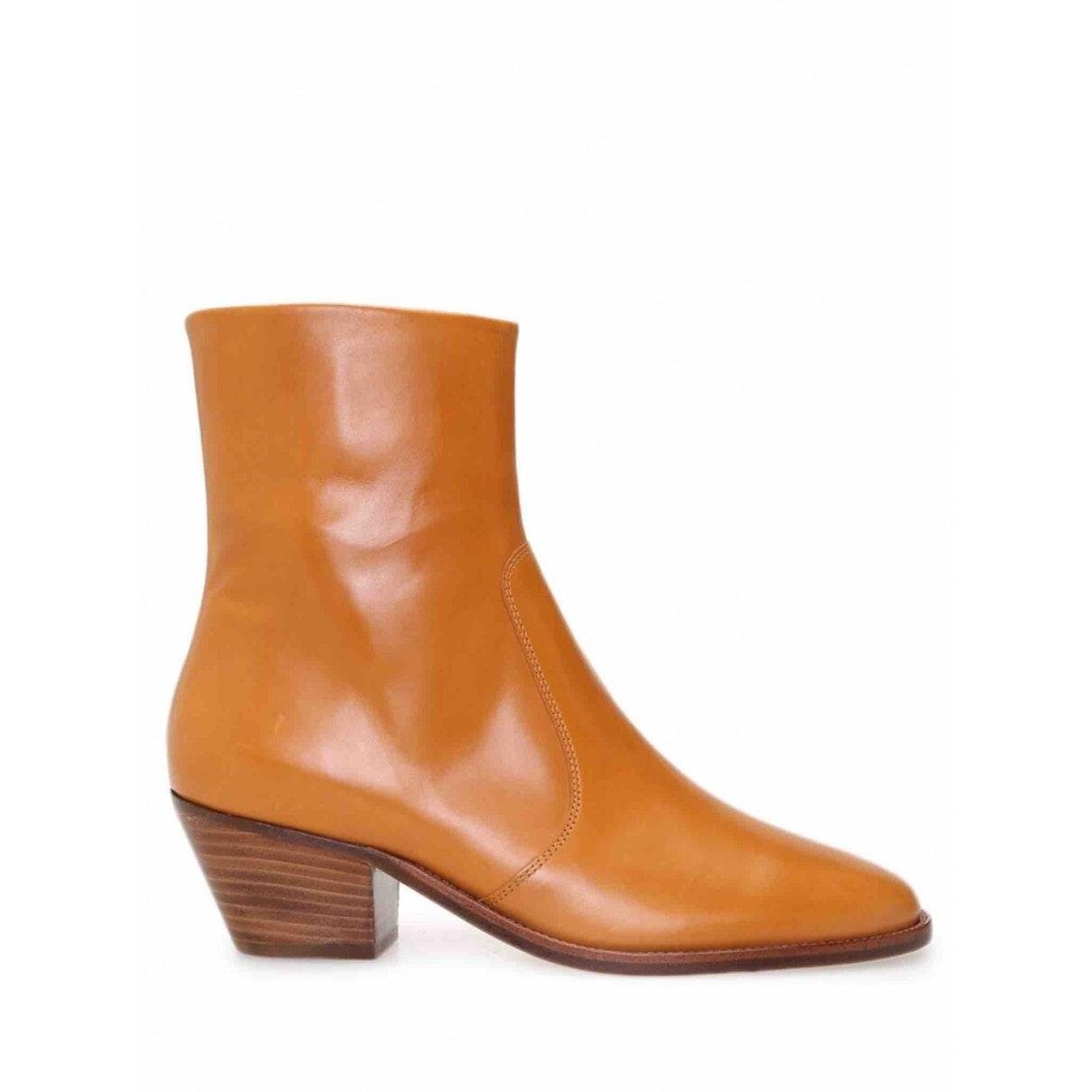 Isabel Marant Camel Leather in Brown