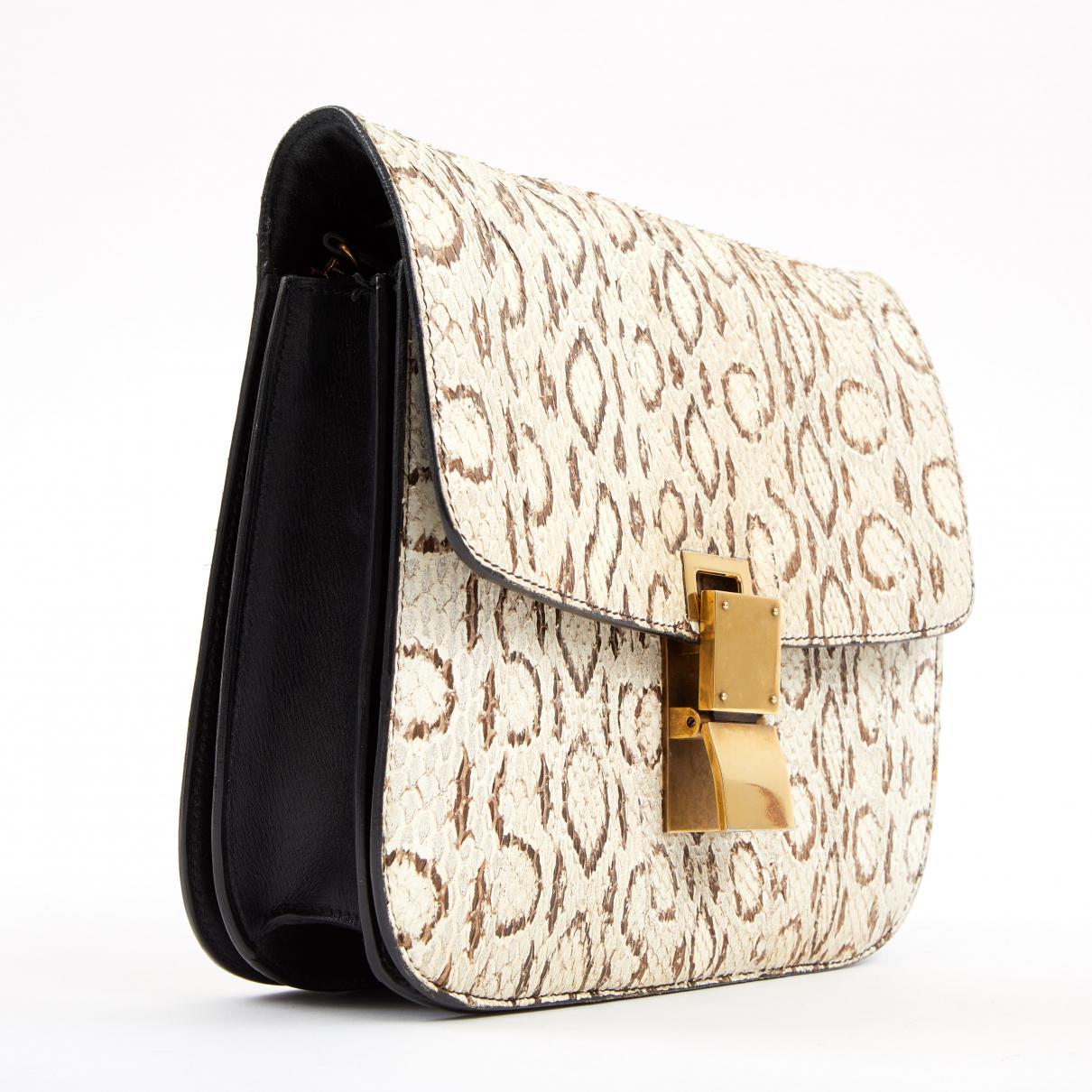 Céline - Natural Classic Python Bag - Lyst. View fullscreen 1aa6844323540
