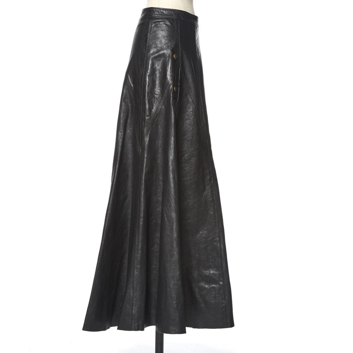 Falda en cuero marrón N Chloé de Cuero de color Marrón