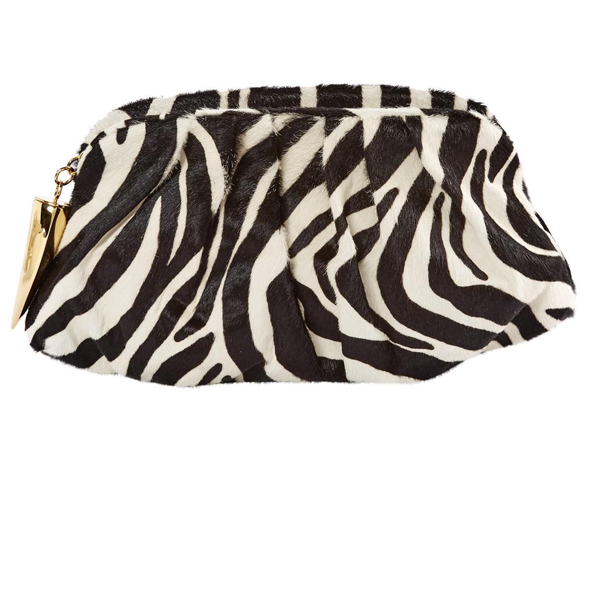 Giuseppe Zanotti Pre-owned - Ponyhair-style calfskin clutch bag ExX4XL