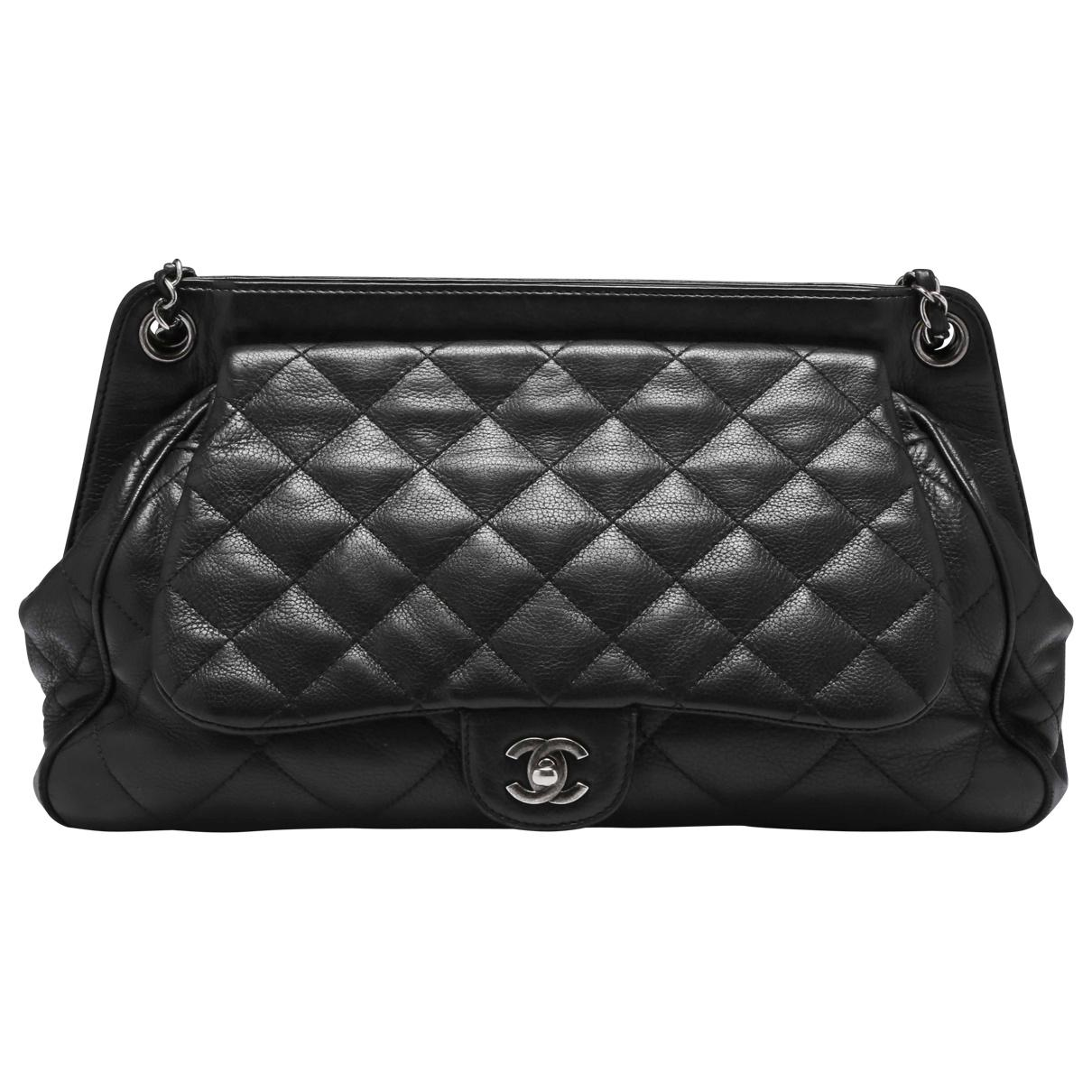 Lyst - Chanel Pre-owned Caviar Bowling Bag in Black 420c057d62