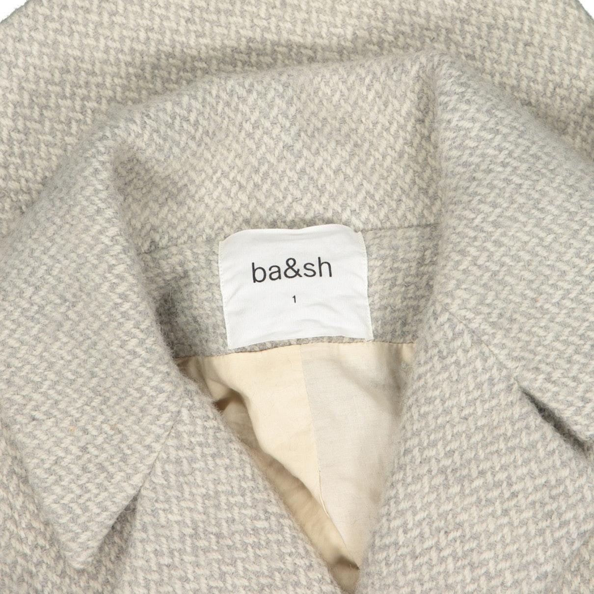 Chaqueta en lana gris Ba&sh de Lana de color Gris