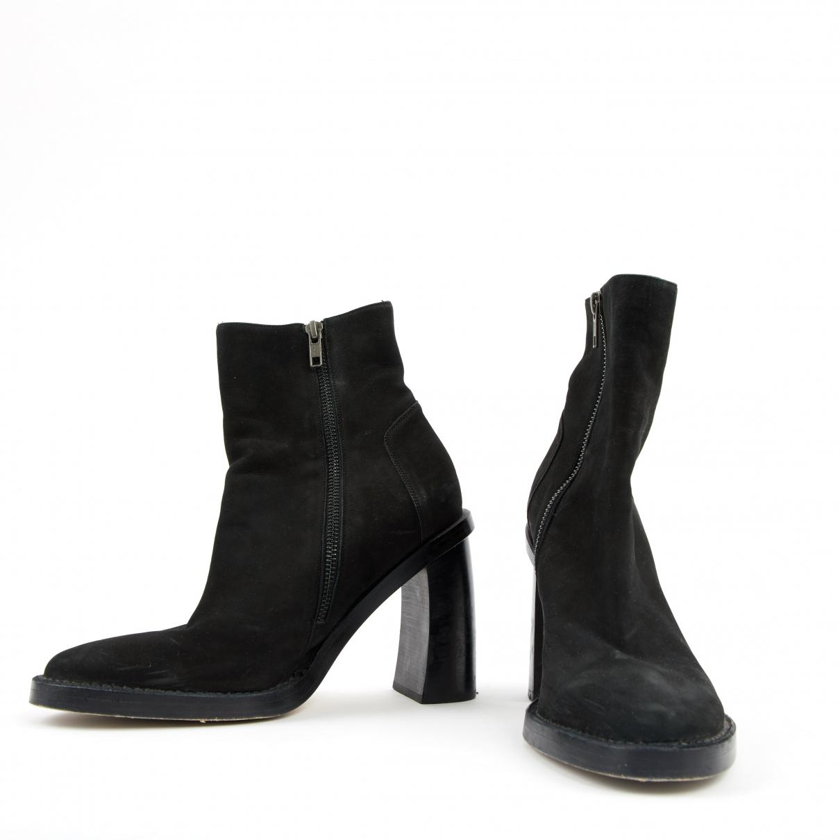 Ann Demeulemeester Suede Boots in Black