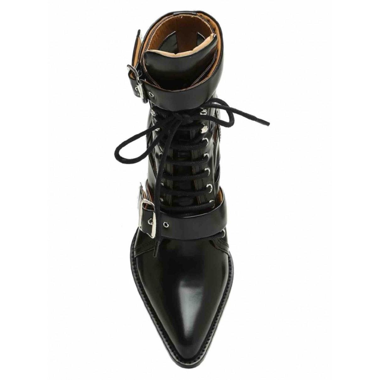 Botines en cuero negro Rylee Chloé de Cuero de color Negro