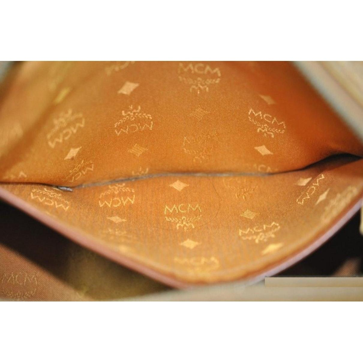 Sac à main en Toile Orange MCM OeSR