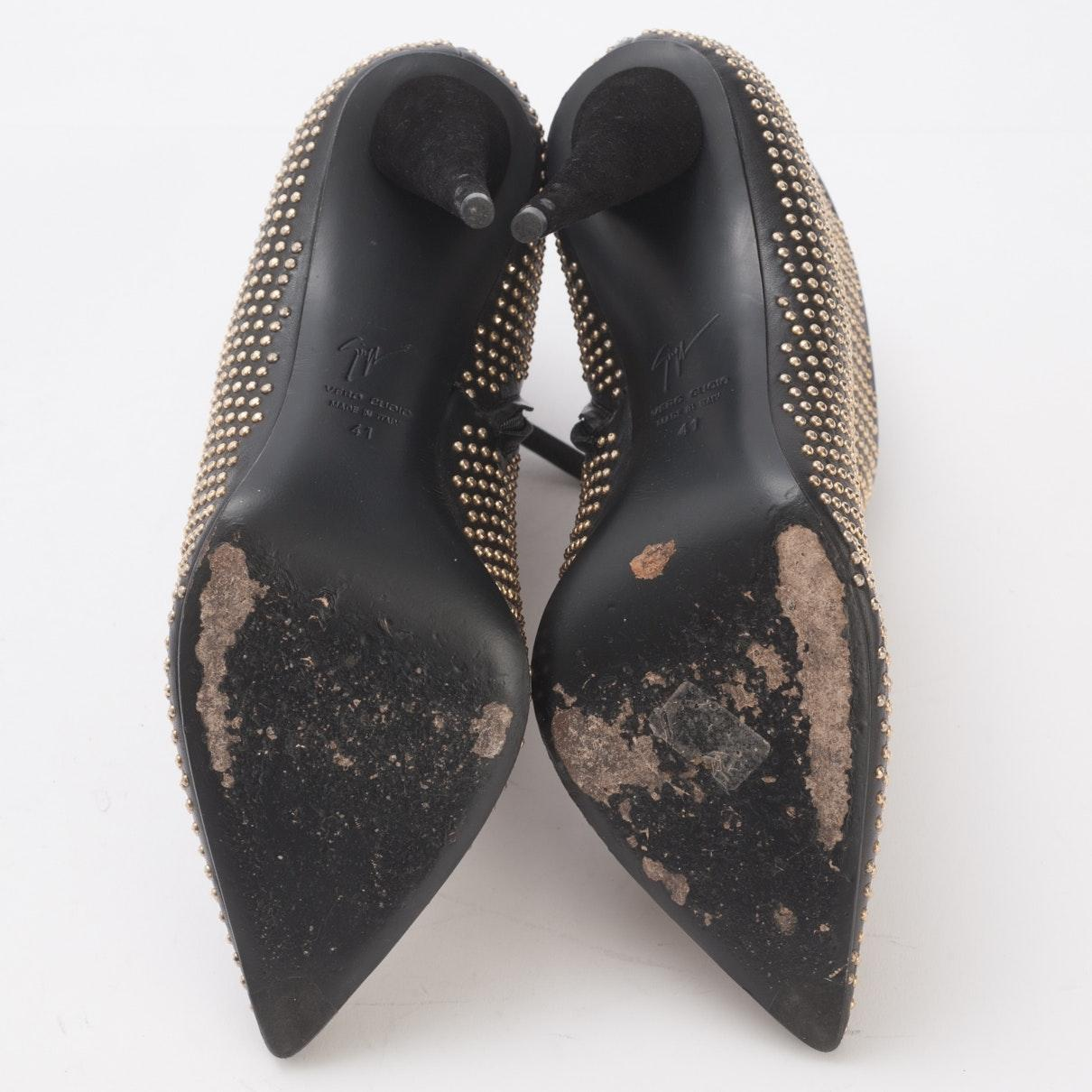 Botines en cuero negro N Giuseppe Zanotti de Cuero de color Negro