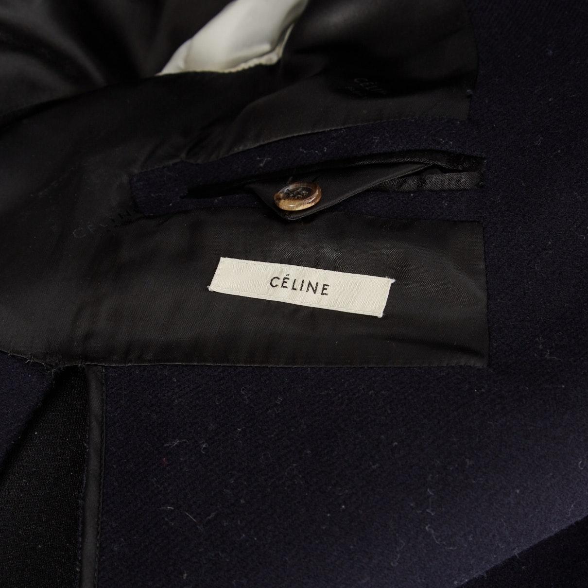Mantel en Laine Marine Laines Celine en coloris Bleu cXHcj