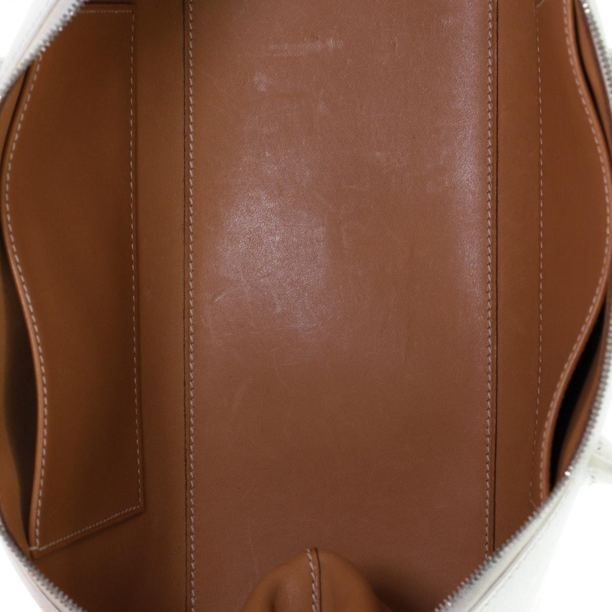 Hermès Leder Leder Handtaschen in Weiß oNGxH