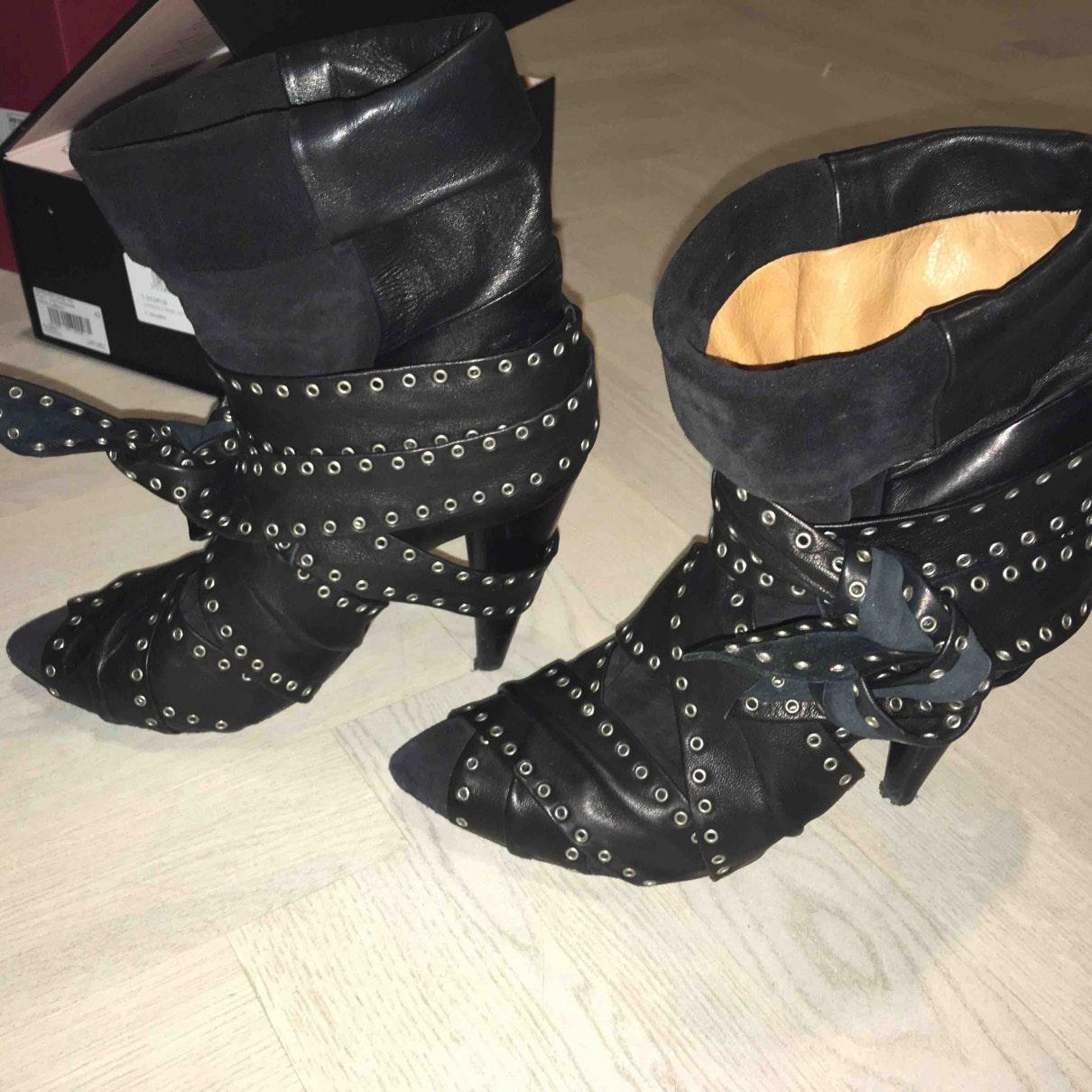 Botines de Cuero Isabel Marant de color Negro