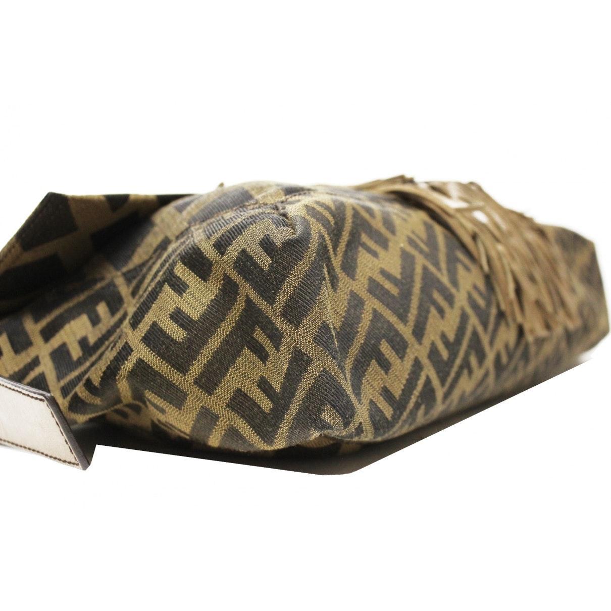 Fendi Baguette Leinen Handtaschen in Braun U0P4c