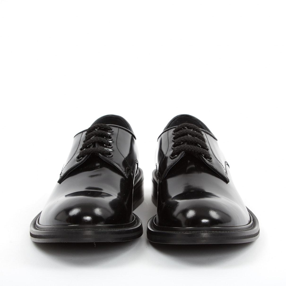 Derbis en charol negro Loewe de Cuero de color Negro